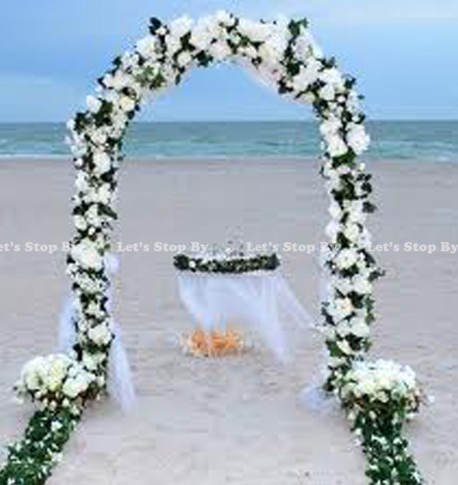 7 5 ft white metal arch for wedding party bridal prom for Arch decoration supplies