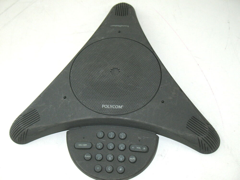 polycom soundstation 2201 03308 001 conference phone ebay. Black Bedroom Furniture Sets. Home Design Ideas