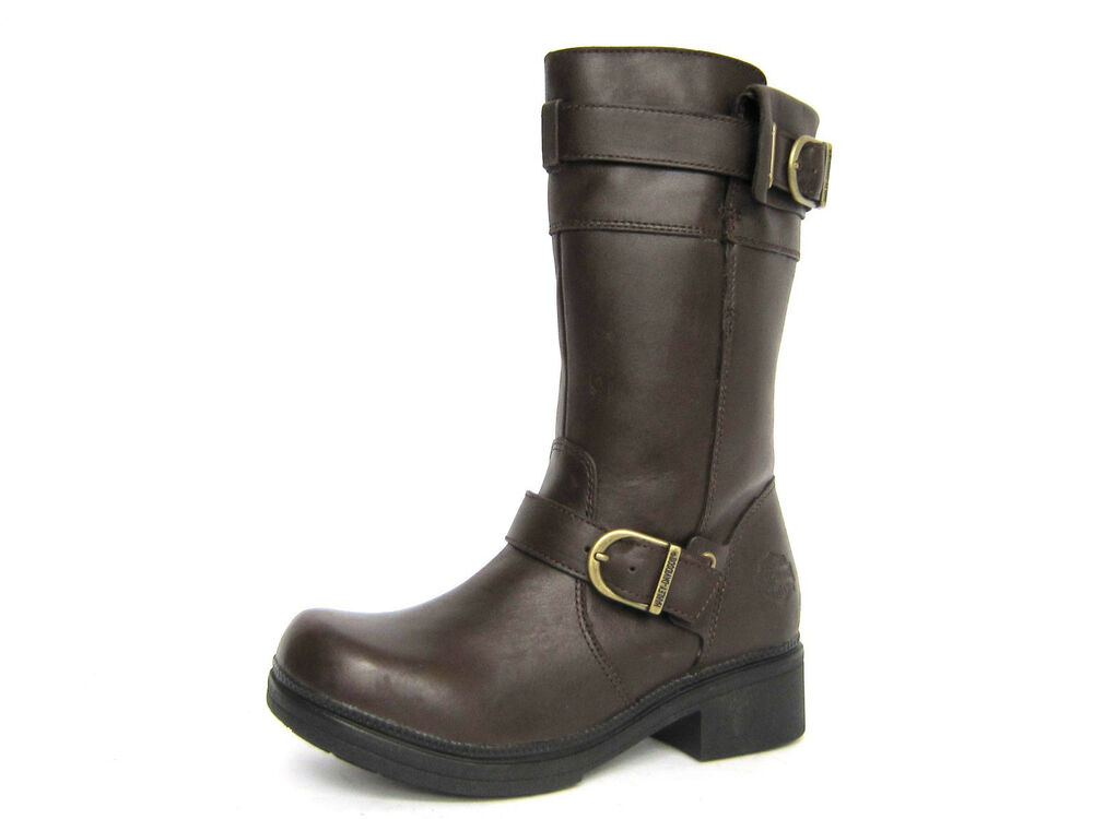Cool Icon 1000 El Bajo Leather Motorcycle Boot - Oiled Brown