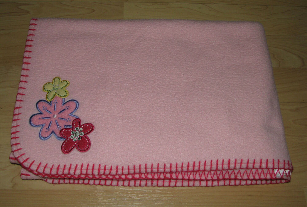 Baby Connection 3 Flowers Pink Fleece Baby Girls Security