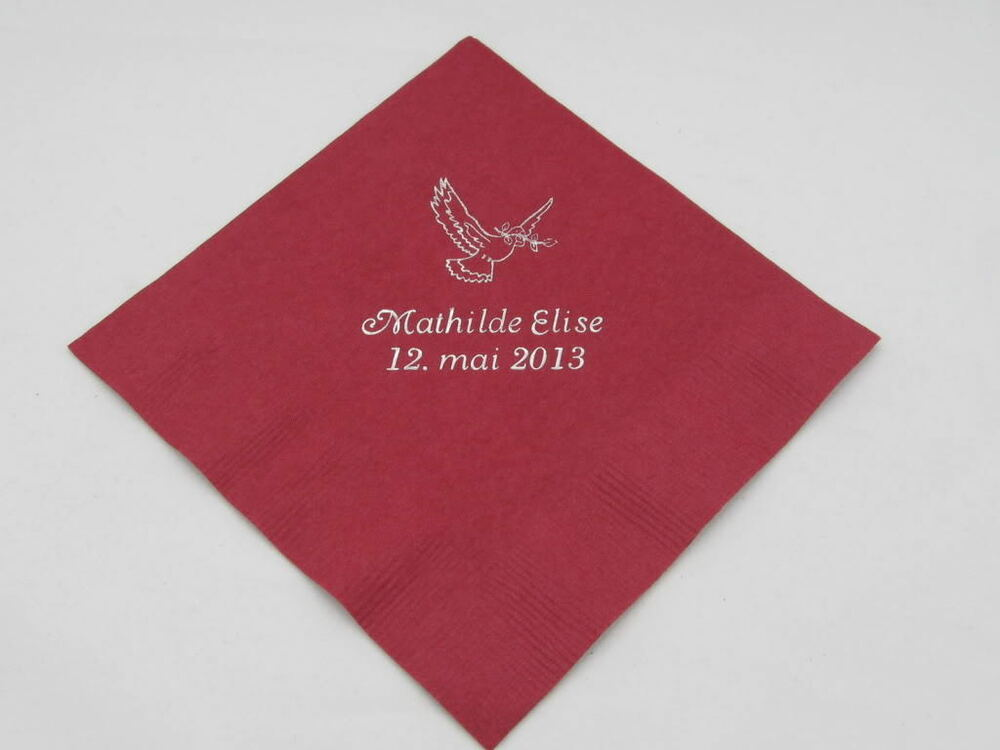 150 personalized wedding beverage napkins cocktail custom for Printed wedding napkins