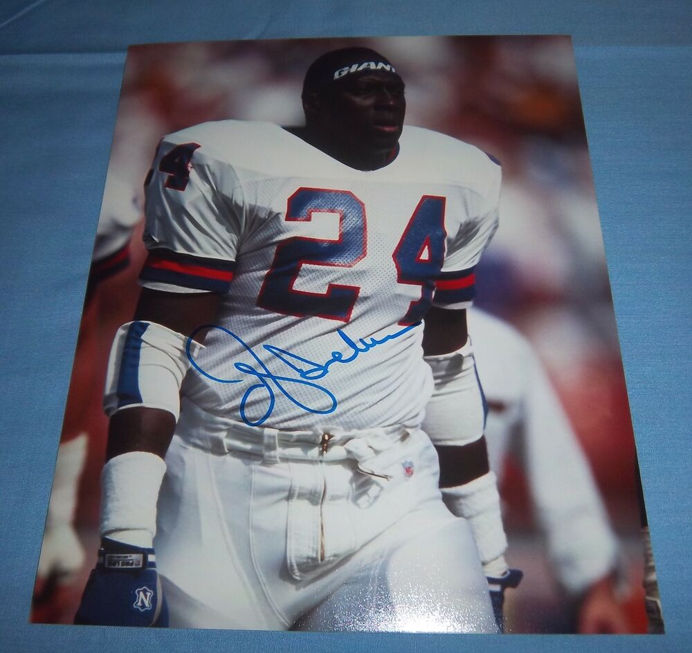NY Giants Ottis OJ Anderson Signed Autographed 8x10 Photo