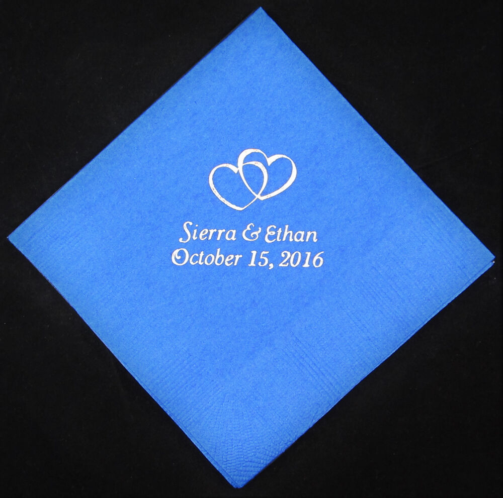 150 personalized wedding luncheon napkins custom printed
