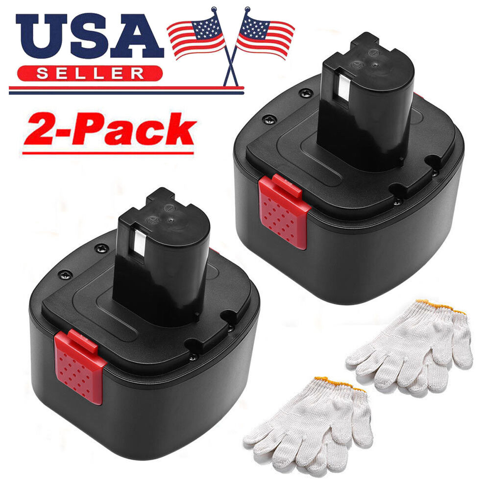 2x 12v Nicd Battery For Lincoln Powerluber 12 Volt Grease