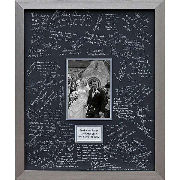 Luxury And Large Personalised Wedding Guest Book Frame