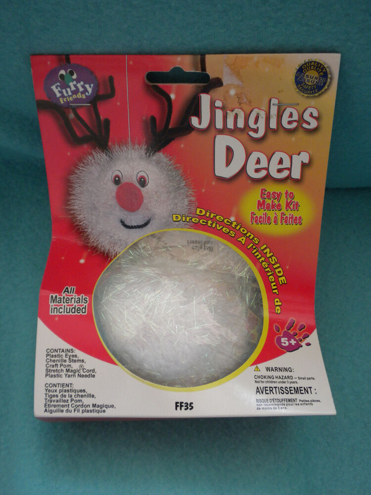 Pepperell crafts furry friends kit jingles deer new ebay for Furry craft