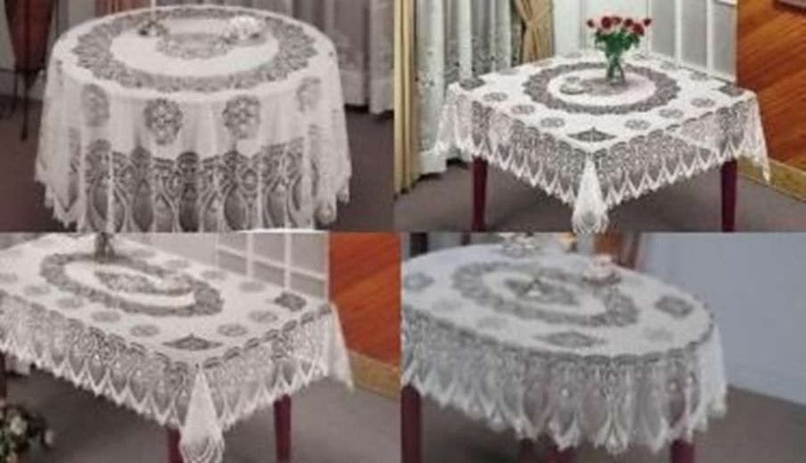 New Vinyl Tablecloth Easy Wipe Round Square Rectangle Oval