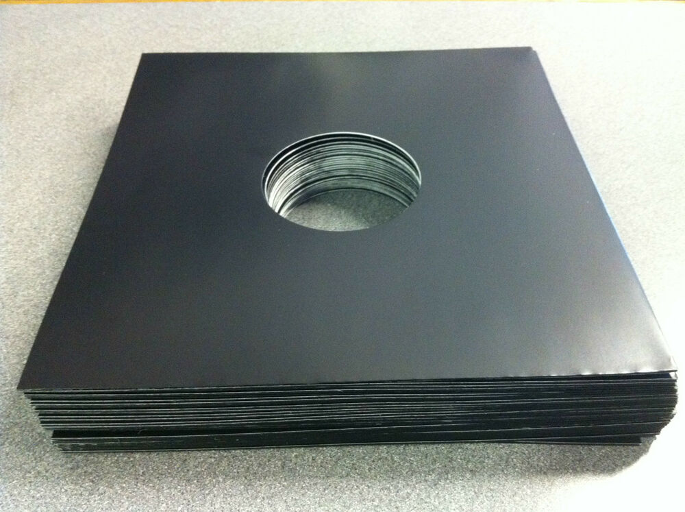 12 Quot Black Record Sleeves Pack Of 100 Free Uk Delivery