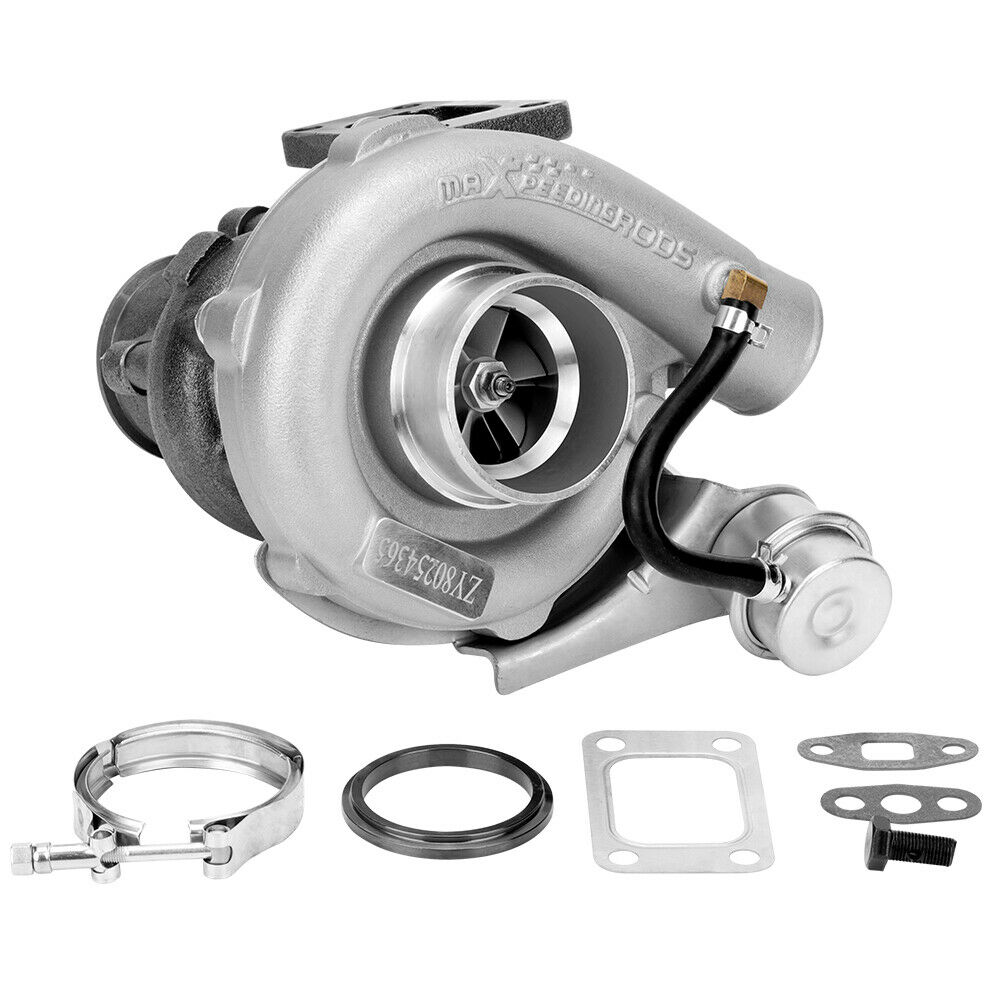 Universal Turbo Kit 4 Cylinder: Hybrid T3 T4 A/R .63 A/R .50 V-Band Turbo Turbocharger For