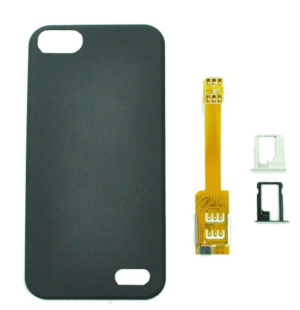 dual sim iphone dual sim card adapter converter back trays 6789
