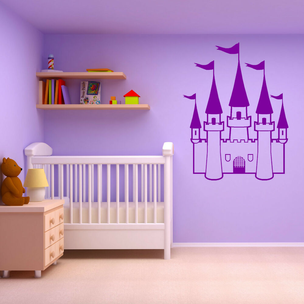 PRINCESS CASTLE GIRLS BEDROOM FAIRYTALE THEME Vinyl Wall
