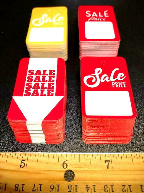 Store Tags: 50pk ((HALLOWEEN COLORS!!)) SPECIAL SALE PRICE TAGS SIGNS