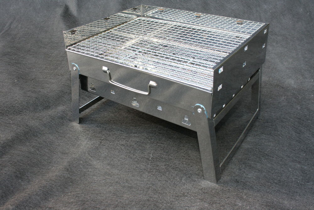 Outdoor Portable Compact Stainless Steel Charcoal Grill