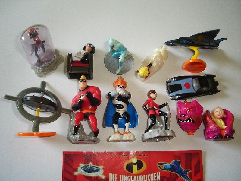 The Incredibles Toys : Disney the incredibles kinder surprise figures set