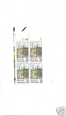 Scott 2346 New York Statehood July 26 1788 Numbered Plate Block Of 4 Stamps Ebay