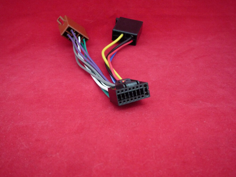 kenwood 16 pin iso car kdc krc wiring power lead cable loom harness wire cd 19048191021 ebay
