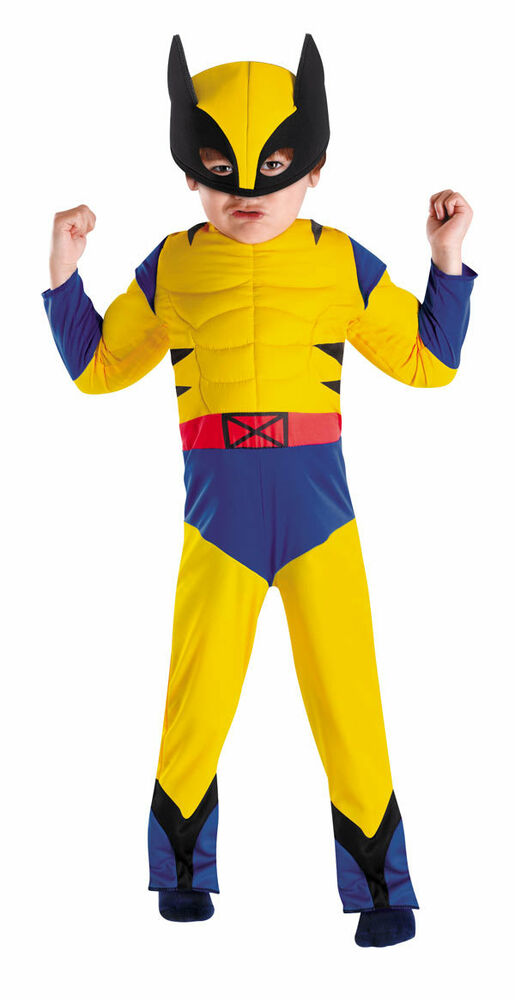 Superhero Squad Wolverine X Men Toddler Muscle Costume