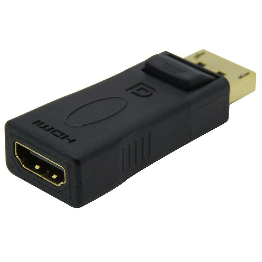 display port male dp to hdmi female adapter converter for dell hp laptop lr ebay. Black Bedroom Furniture Sets. Home Design Ideas