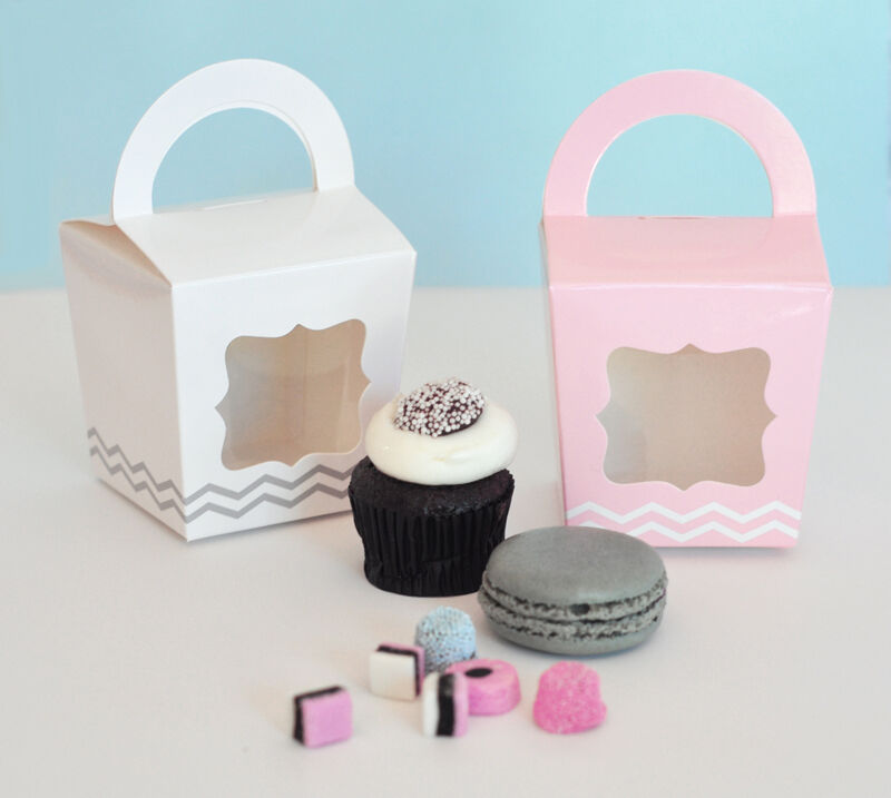 12 NEW Cupcake Tote Window Handle Wedding Shower Party ...