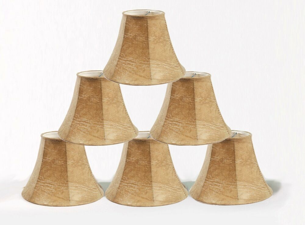 Urbanest Faux Leather Mini Chandelier Lamp Shades Set Of 6