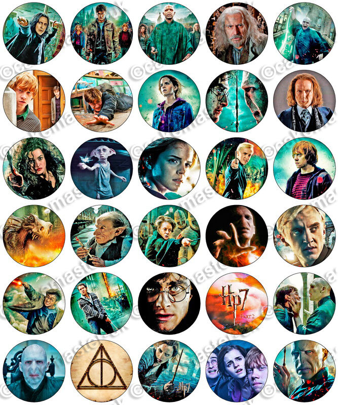 30 X Harry Potter Deathly Hallows Edible Rice Wafer Paper