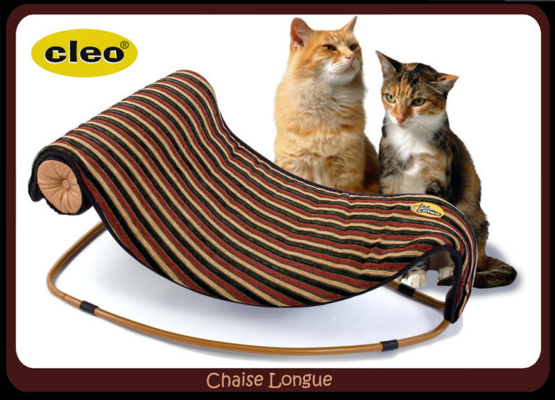 Cleo chaise longue cat bed stripe fabric 09 510 ebay for Cat chaise longue