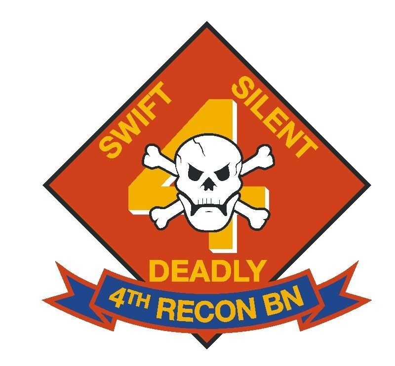 4th Recon Battalion Sticker Military Armed Forces R270 ...