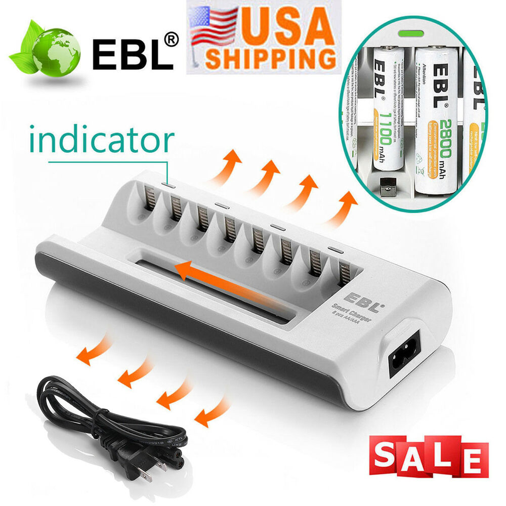 universal battery charger for aa aaa ni mh ni cd rechargeable batteries 8 slot ebay. Black Bedroom Furniture Sets. Home Design Ideas