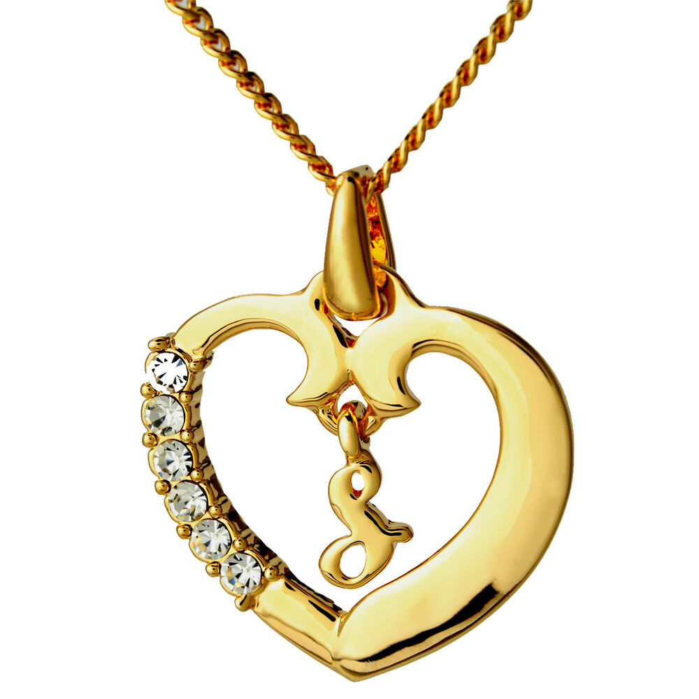 Gold Love Heart Pendant Necklace