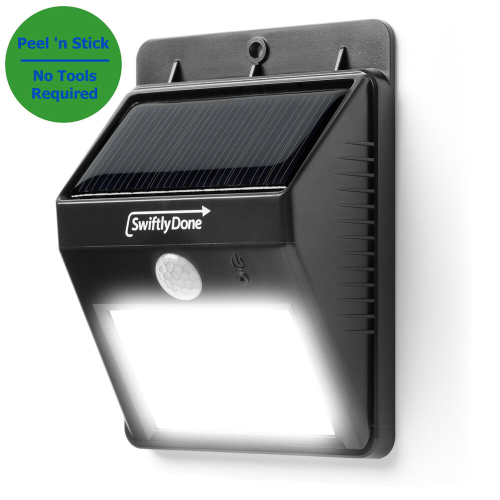 outdoor light led motion detector solar power security exterior lighting sensing ebay