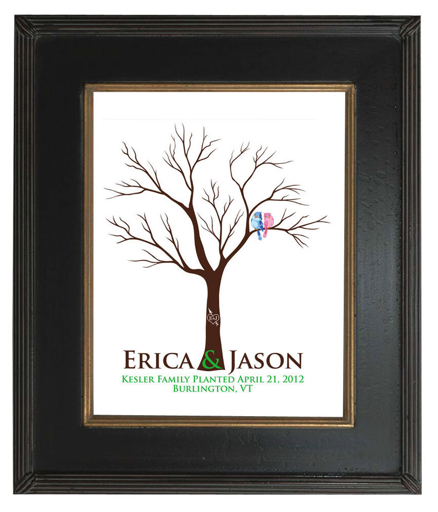 Guestbook fingerprint tree wedding gift custom print tree 104 ebay