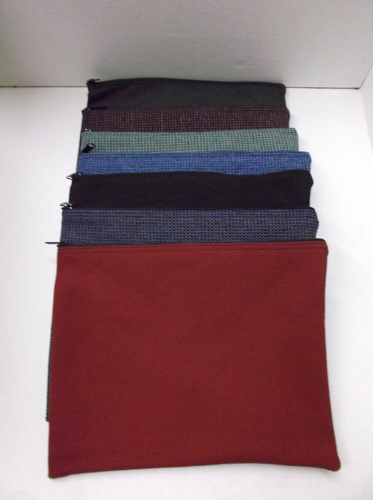 5 Assorted Brand New Large 13x10 Canvas Bank Deposit Money