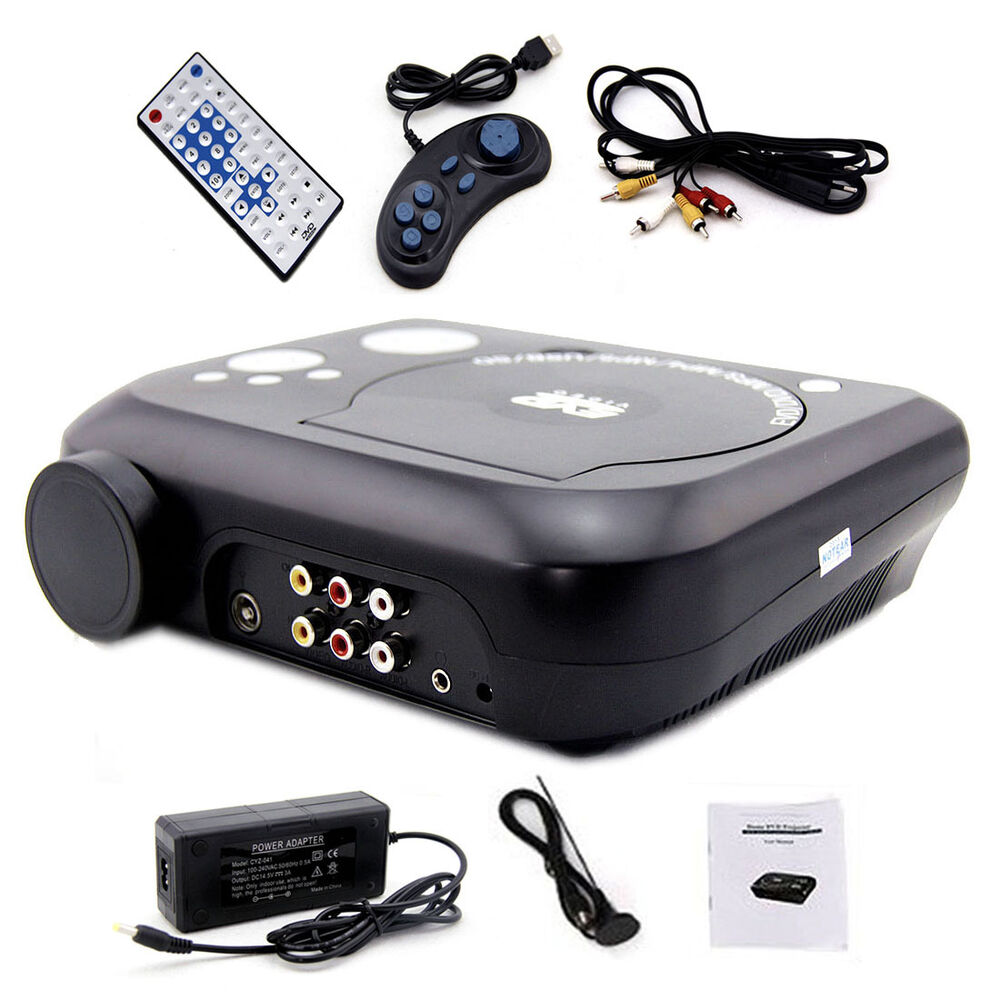 Ksd 288 home theater portable dvd lcd projector tv game for Best pocket projector for business