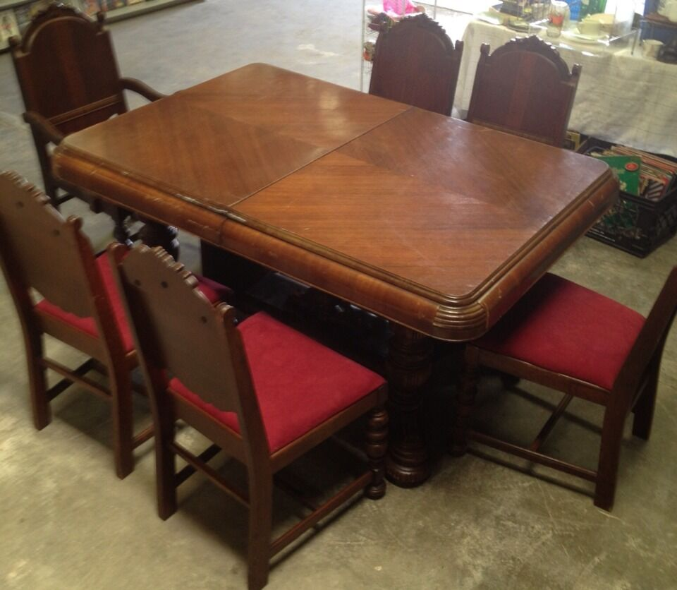 antique dining room table chairs antique vintage deco depression dining room table 6 7472