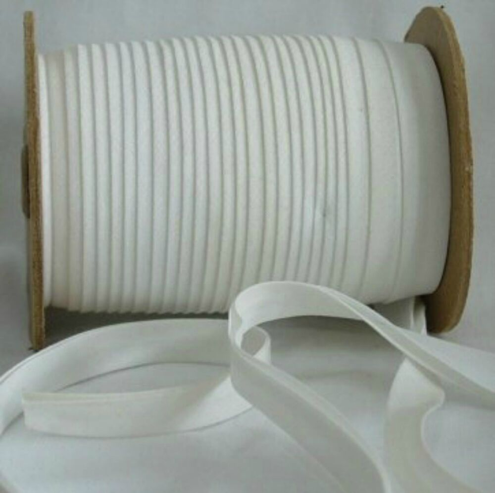 WHITE ONE (1) Inch Unfolded FLAT Bias Tape 10yd