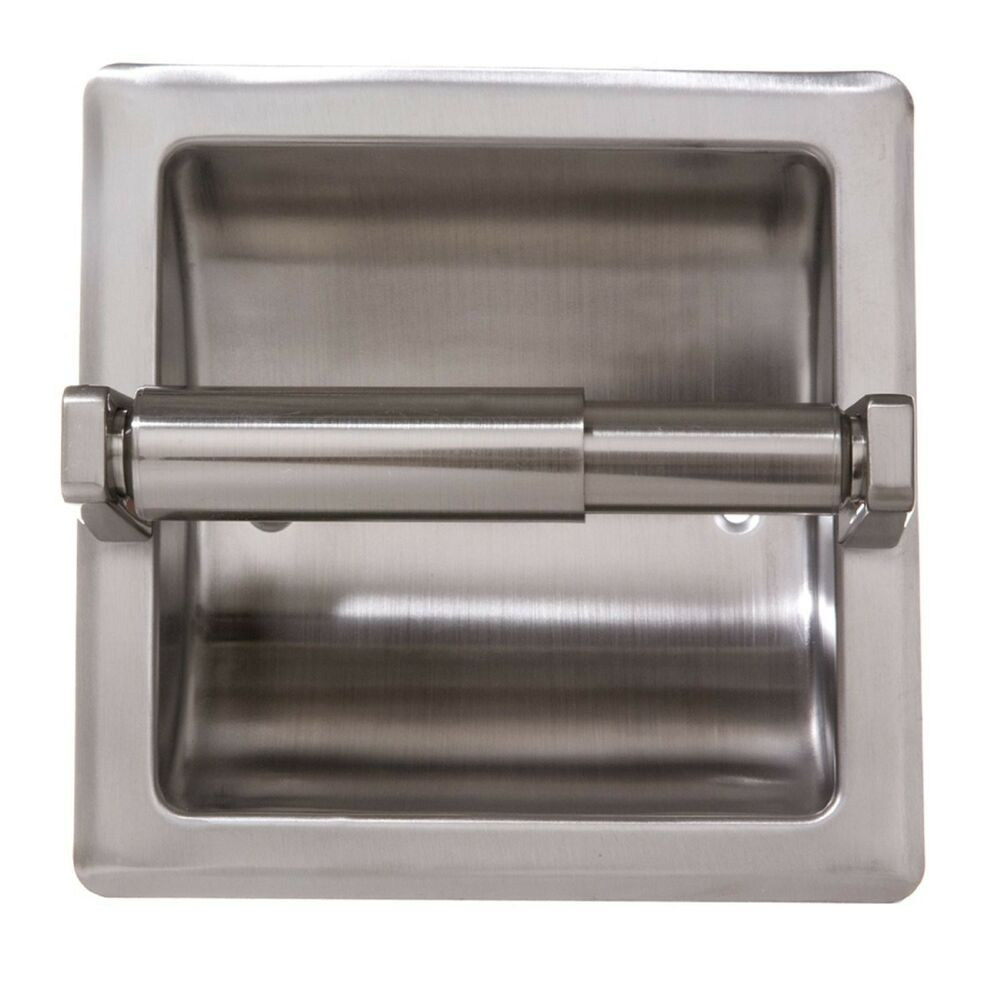 Recessed Toilet Paper Holder With Stainless Steel