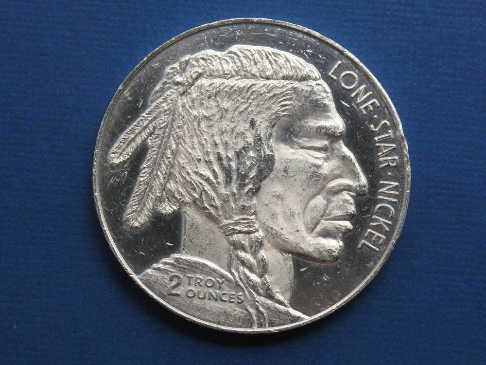 Buffalo Indian Head Dallas Speciality Mint 2 Oz Silver