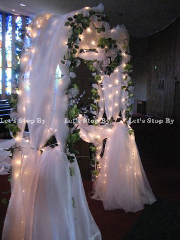 New 90 white metal arch wedding party bridal prom for Arch decoration pictures
