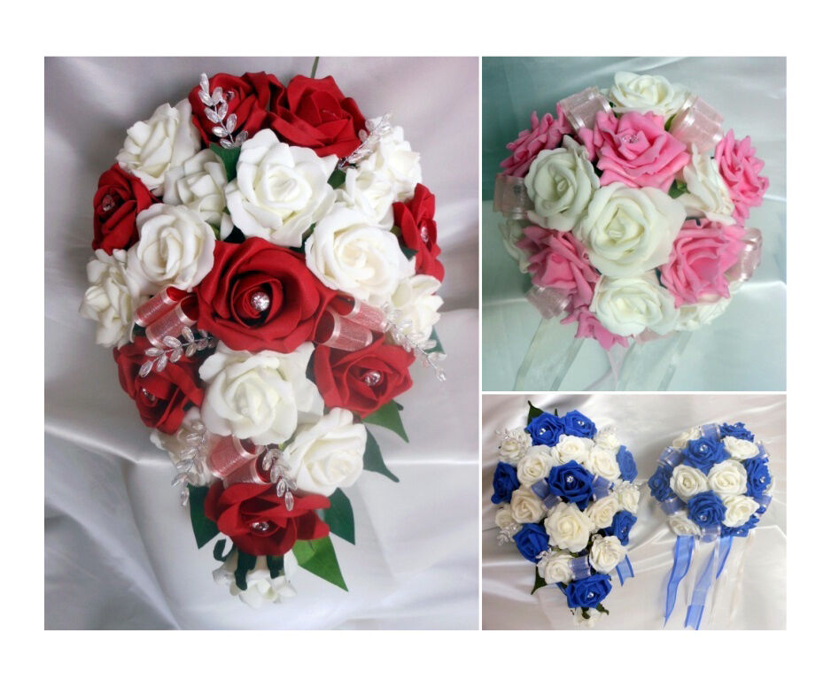 Brides,Bridesmaids Wedding Bouquet Flowers Create Your Own