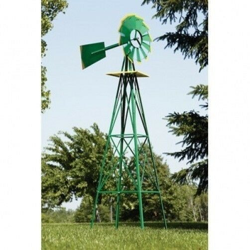 8 Foot Tall Home Garden Farm Steel Metal Decorative Wind