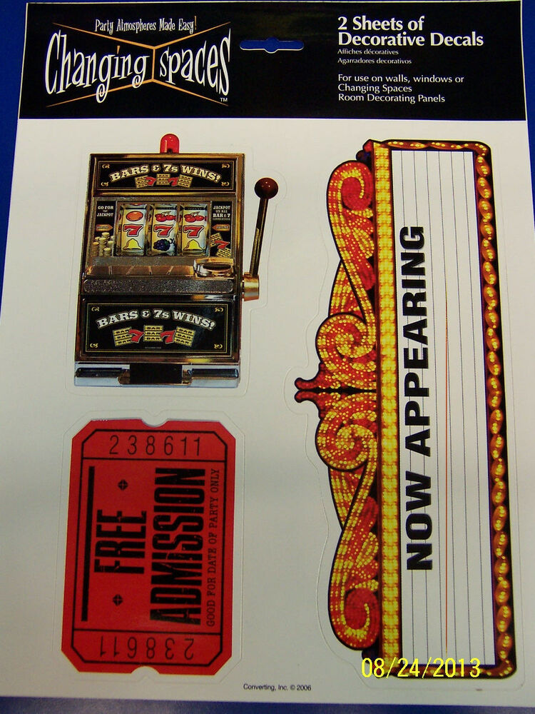 Vegas Casino Prom Theme Party Wall Decoration Stickers ...