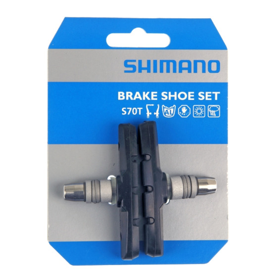 shimano mtb bremsschuhe s70t f r v brake f r br m570 m600. Black Bedroom Furniture Sets. Home Design Ideas