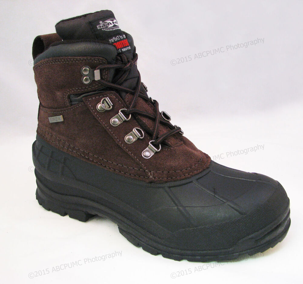 """Men's Winter Boots Leather 6"""" Insulated Waterproof Hiking ..."""