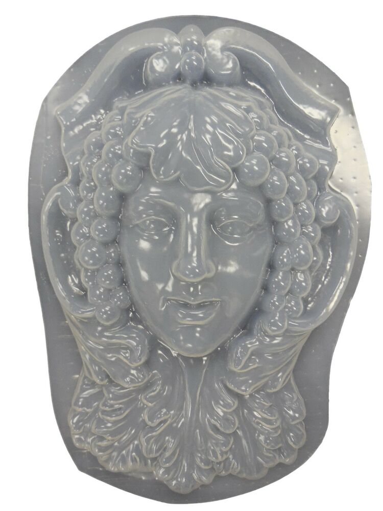 Greenlady Face Wall Plaque Concrete Plaster Mold 7028 Ebay