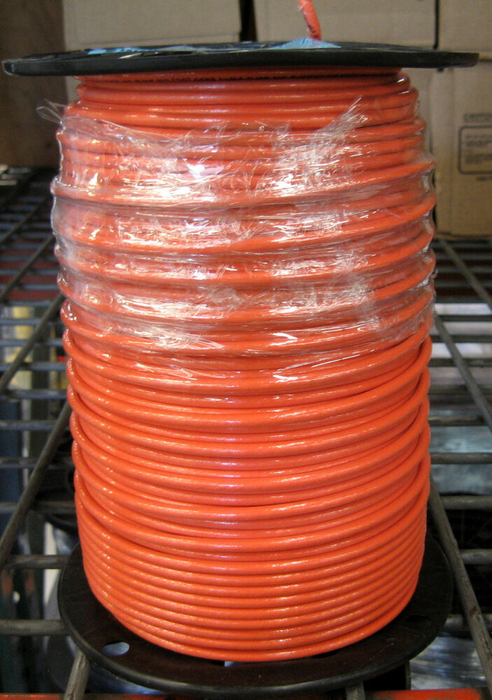 Stranded Copper Wire : Thhn thwn ft awg stranded copper wire orange ebay