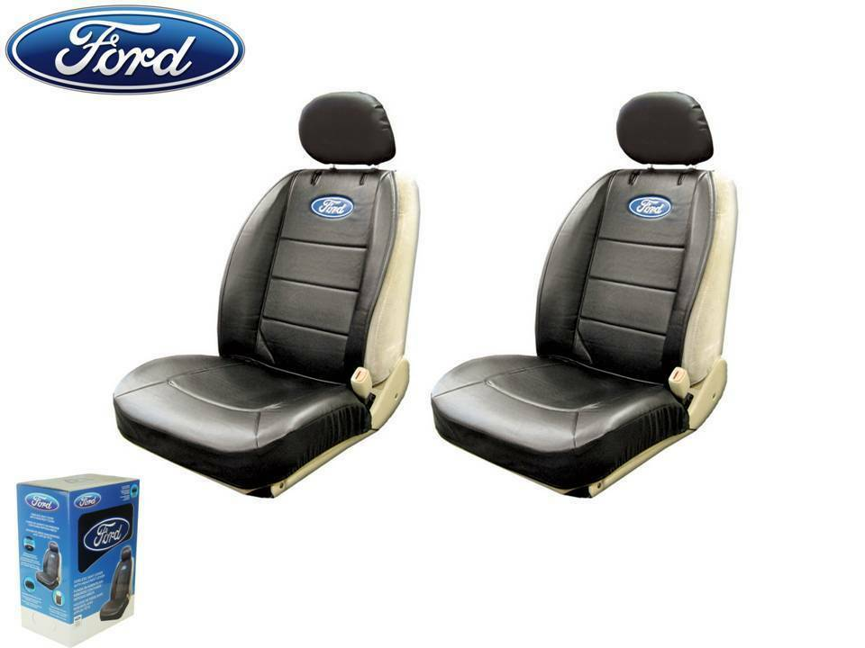 Ford Elite Seat Covers Black Synthetic Leather W Pocket