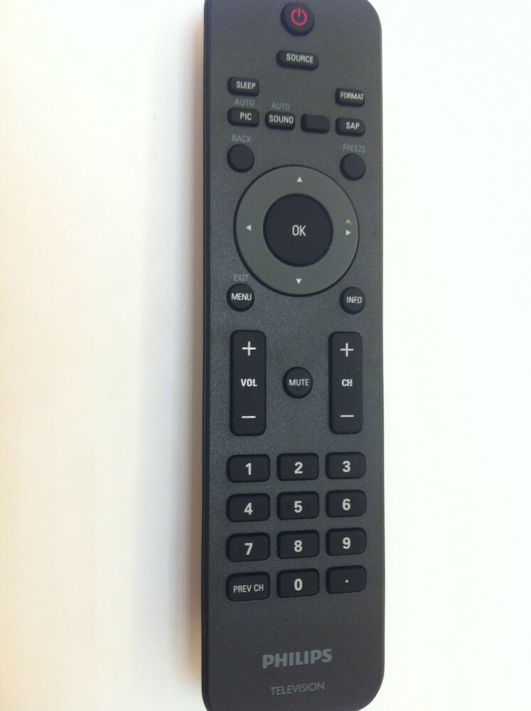 brand new philips tv remote fit for 19pfl3505d 32pfl3505d 32pfl3515d 32pfl3506 ebay. Black Bedroom Furniture Sets. Home Design Ideas