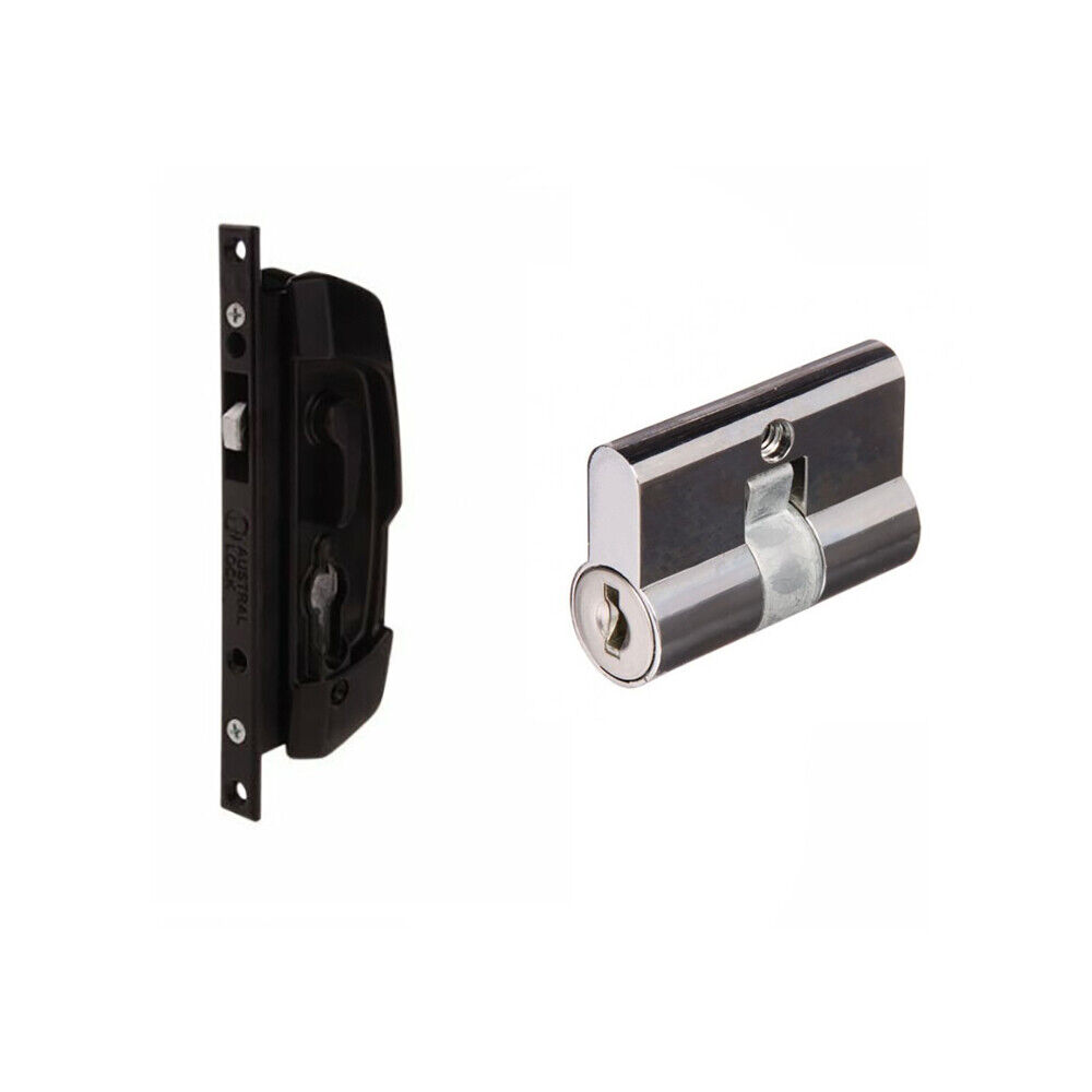 Austral Sliding Security Screen Door Lock Alsd7blk Sd7