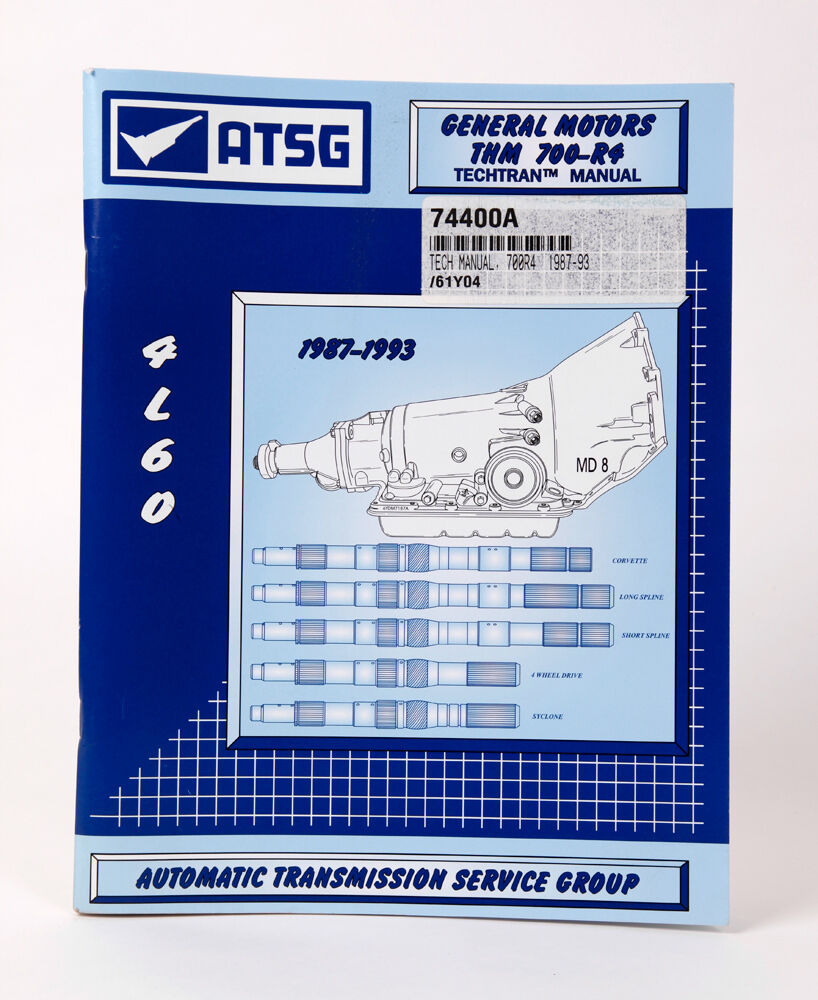 4L60 700R4 ATSG Transmission Repair Rebuild Service Manual 1987-93 for GM |  eBay
