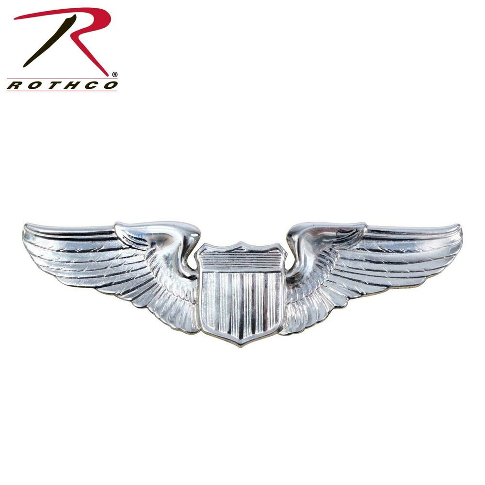 rothco 1650 us air force pilot wing insignia pin ebay. Black Bedroom Furniture Sets. Home Design Ideas
